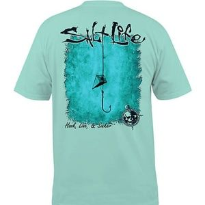 NWT Men's Salt Life Hook Line Sinker T-Shirt Large